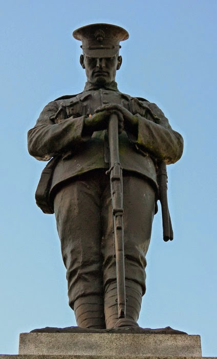 Louis Roslyn, sculpter, Clitheroe, First World War