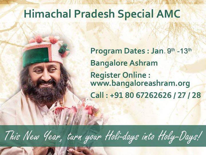 Himachal Pradesh special Advanced Meditation Course with Sri Sri Ravi Shankar