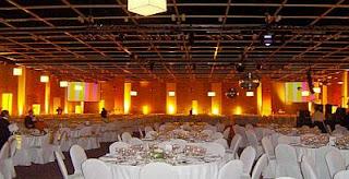 Wedding decoration, orange saloons
