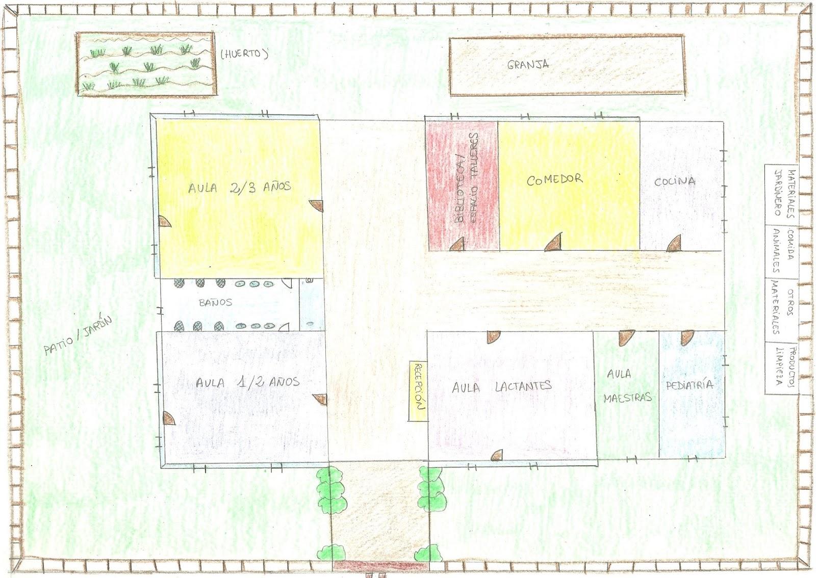 Escuela infantil xicotets for Plano escuela infantil