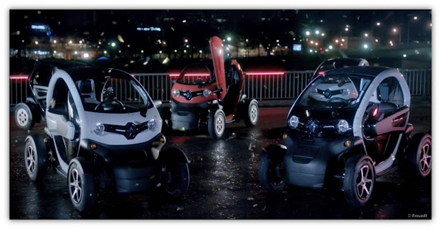 Renault Twizy néons Guetta