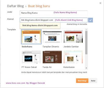 Bisnis online dengan blogger gratis dan mudah