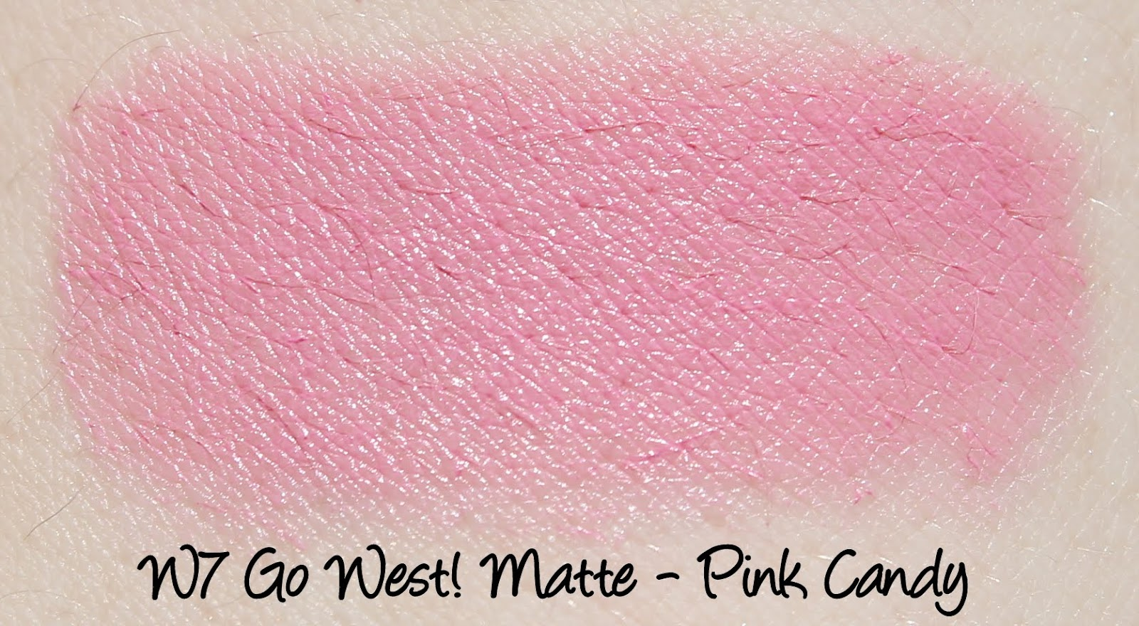 W7 Go West! Matte Lipstick - Pink Candy Swatches & Review