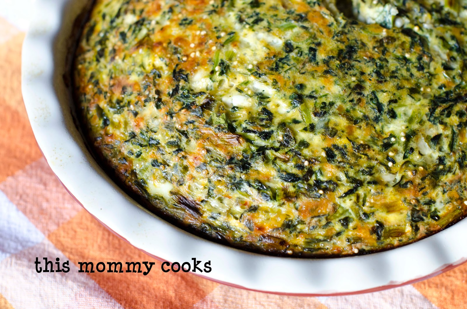 ... Mommy Cooks: Quinoa, Spinach, Cheese, and Egg Casserole {Vegetarian