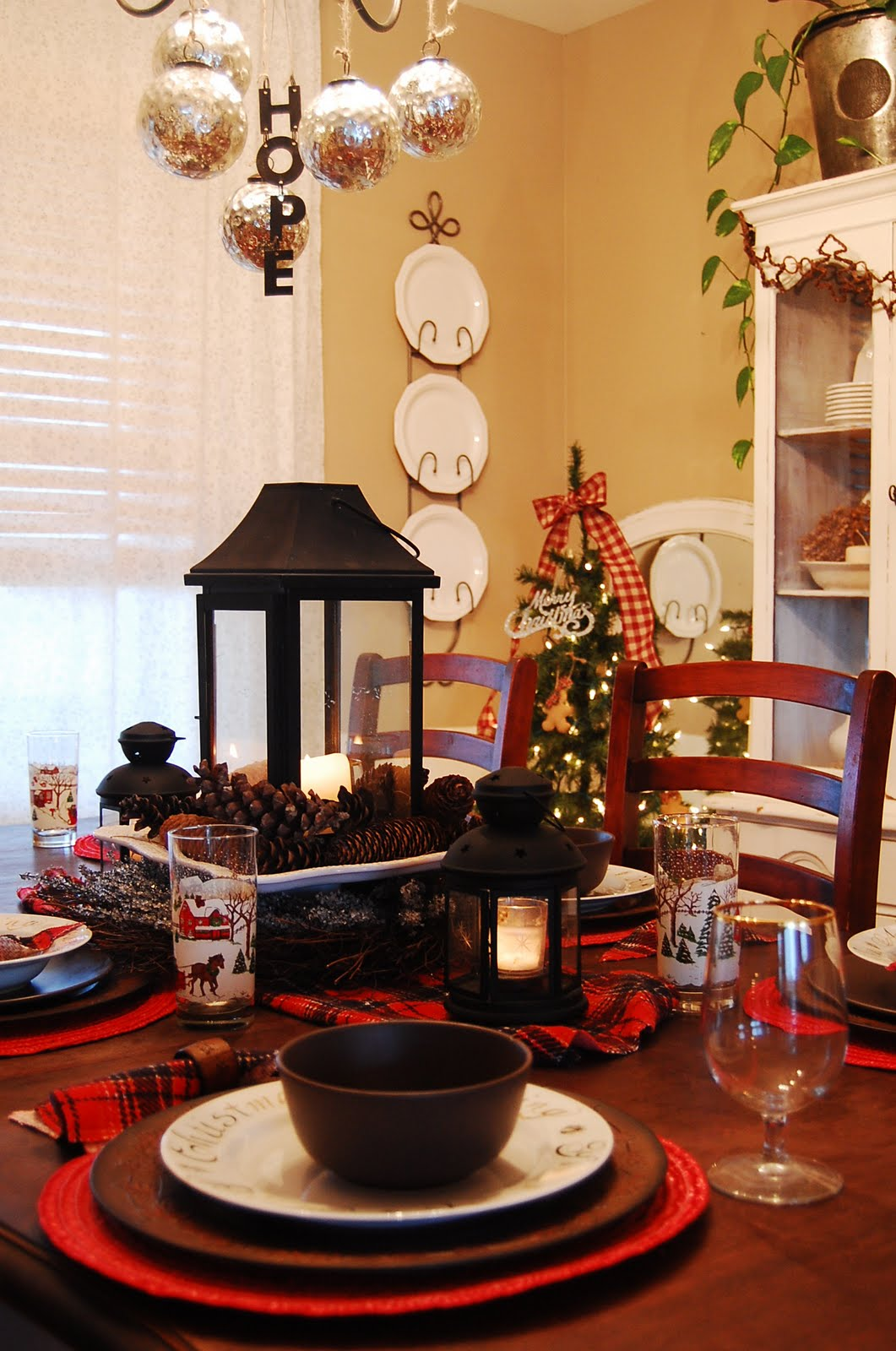 pieces of molly rustic christmas tablescape
