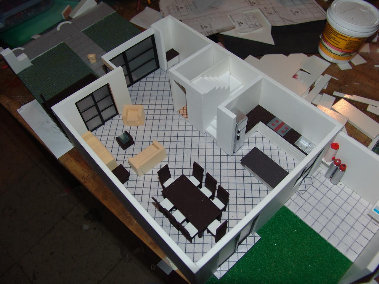 Maquetas profesionales maquetas punto de venta casas tipo - Casas para belenes hechas a mano ...