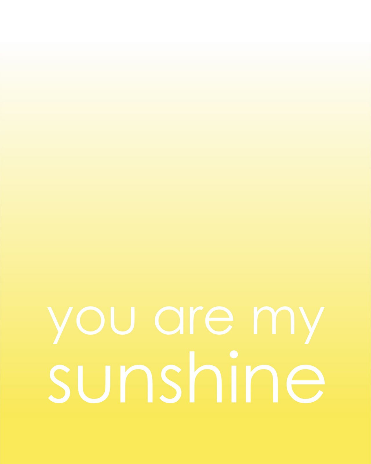 This is a photo of Epic You Are My Sunshine Free Printable