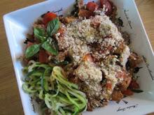 Spaghetti w/Zucchini Noodles