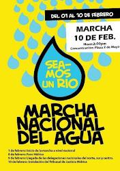 10 de Febrero Marcha Nacional del Agua