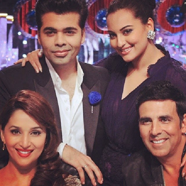 Sonakshi and Akshay at Jhalak Dikhhla Jaa to promote Holiday