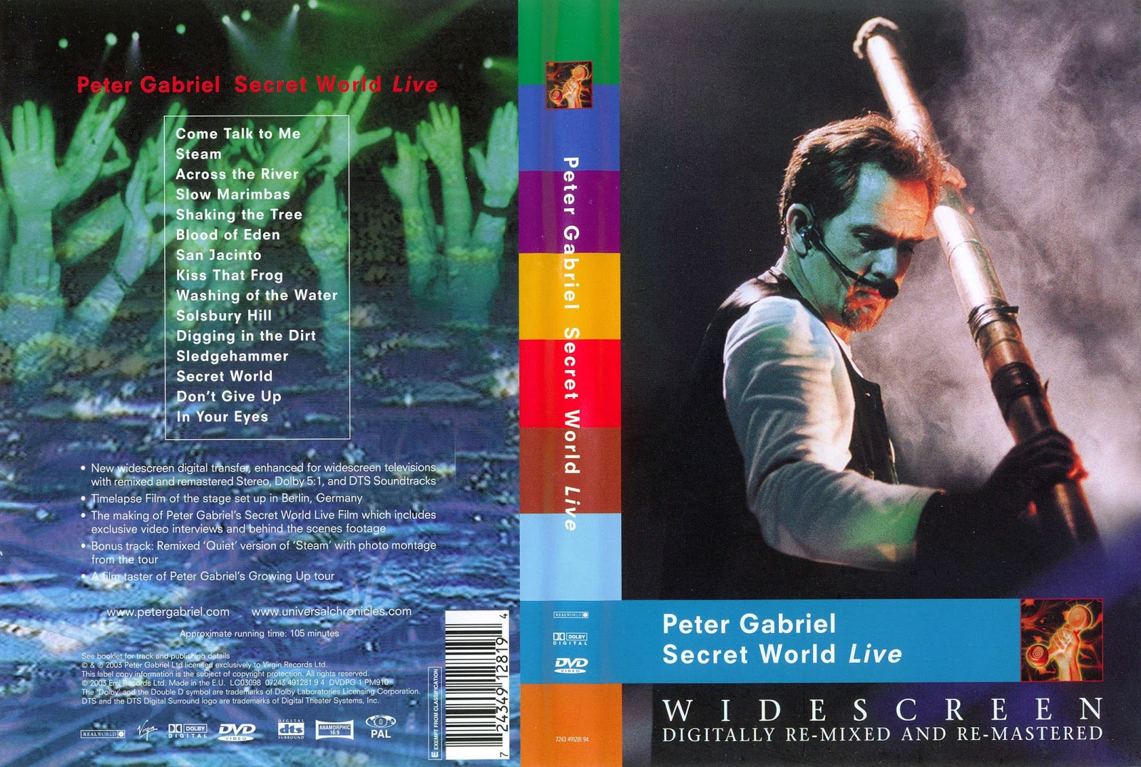 Cat logo dvd m sica peter gabriel secret world live for 1980 floor show dvd