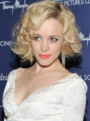 Rachel McAdams Dangling Diamond Earrings