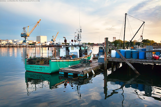 a fishing boat at the kittery foreside dock