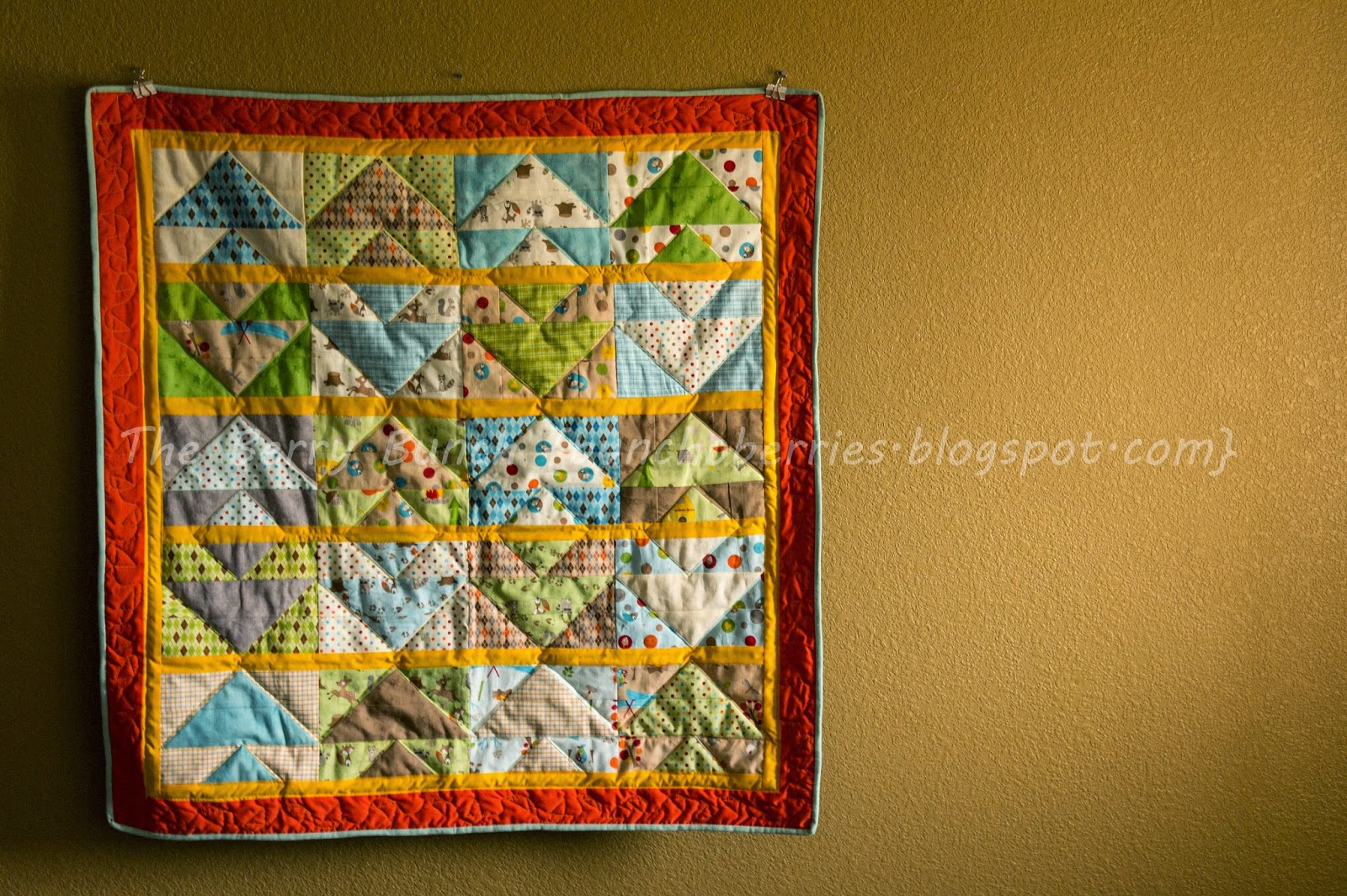 Berry Bunch: Over in the Forest: Jelly Roll Quilt: A Quilted Finish!
