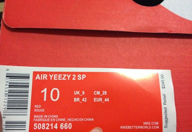Super max perfect yeezy 2 red october with NIKE RECEIPT fROM PICKJORDANZ.NET