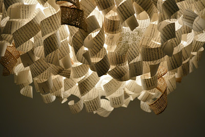 diy book lampshade light indoor sojourner