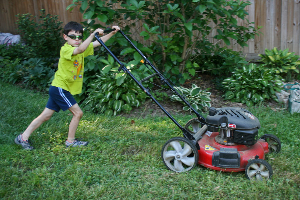 Reubens lawn care lawn mowing safety tips for preventing for Lawn mower cutting grass