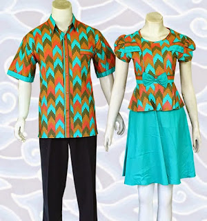 baju dress batik couple model terbaru