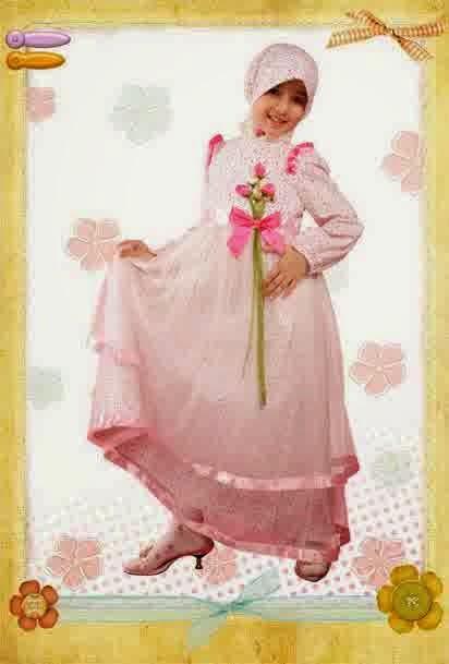 Model Baju Gamis Lebaran 2014 Untuk Keluarga