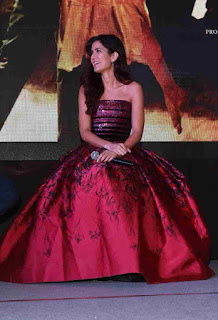 Katrina Kaif in Purple Maroon Gown WOW Promoting Fitoor in Delhi Stunning Beauty