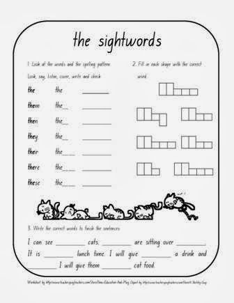 Sight  us worksheet word Education: ILMA Words sight Word Worksheet For The