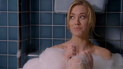 Yvonne Strahovski taking a bubble bath