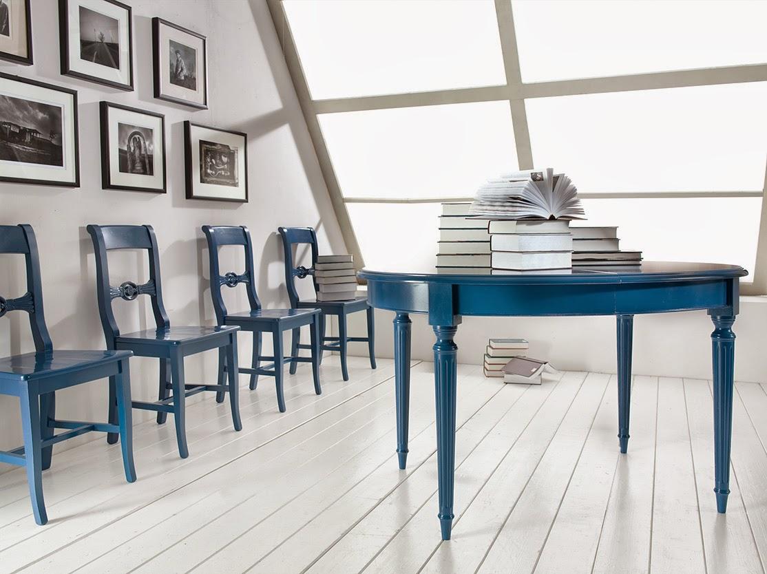 Mobili casanova tavolo e sedie blu for Tavolo sedie