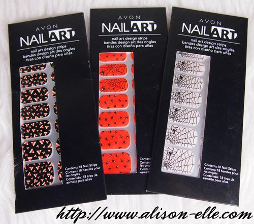 Halloween Nails: AVON Nail Art Design Strips - Alison*elle Vancouver Fashion, Beauty, And Lifestyle Blog