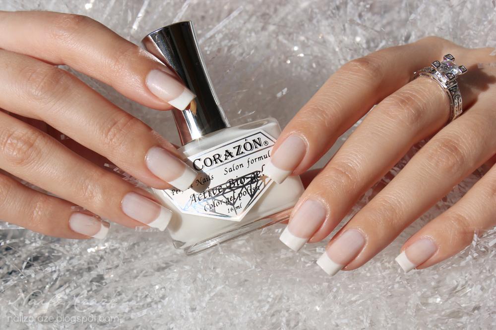 White Christmas French Manicure - Nailz Craze