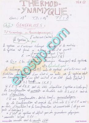 Cours Thermodynamique 2 S3 SMP