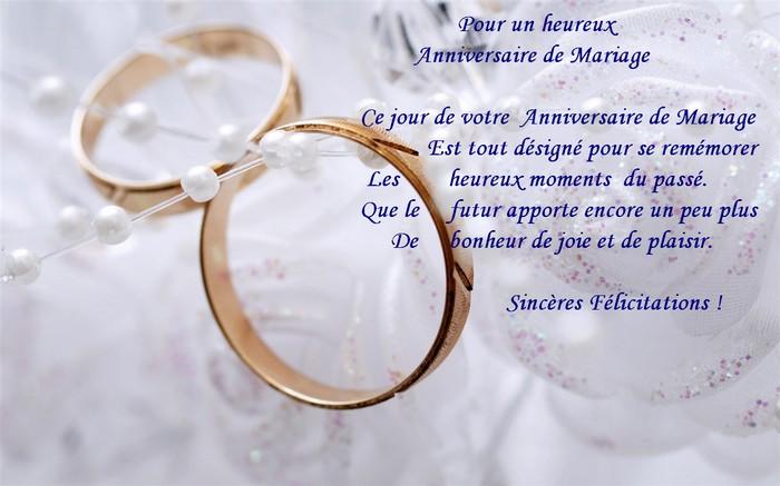 Beaux texte pour anniversaire de mariage anniversaire de - Texte felicitation mariage original ...