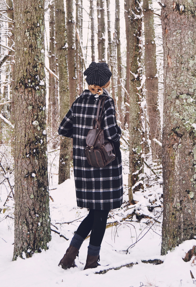 The Flying Clubhouse: Winter Outfit - Plaid Coat