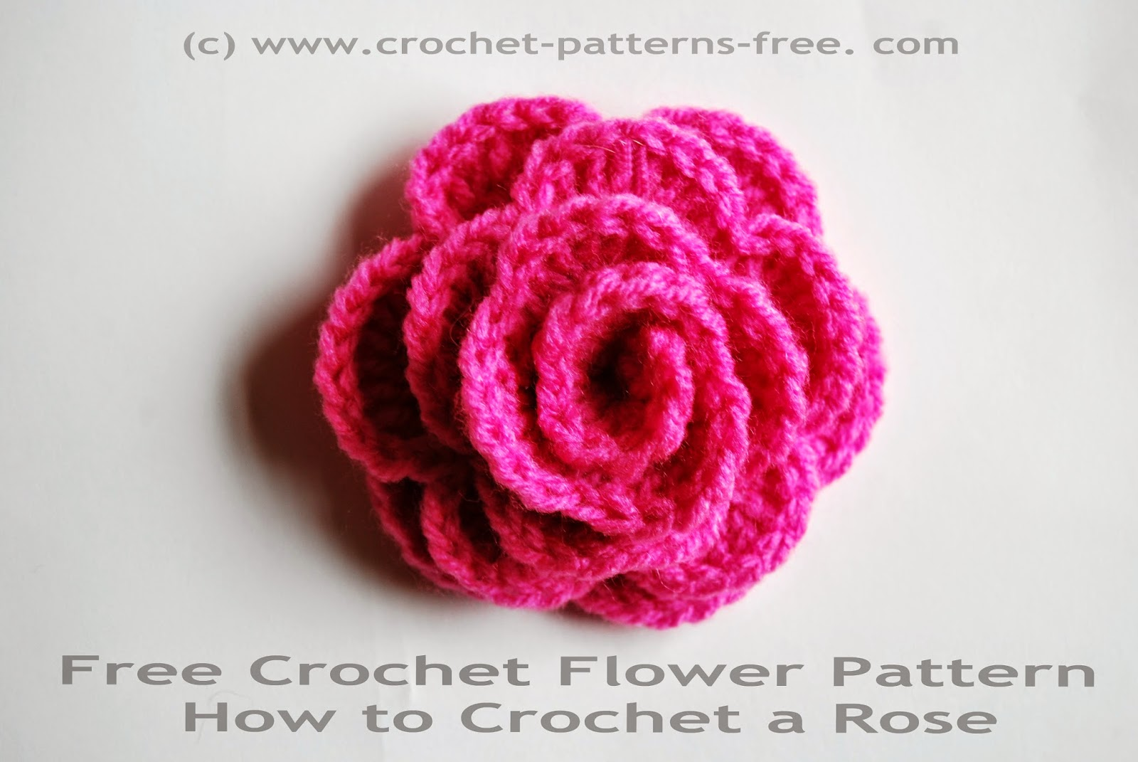 Crochet Rose Pattern : Crochet Flower Pattern How to crochet a rose Free Crochet Patterns ...