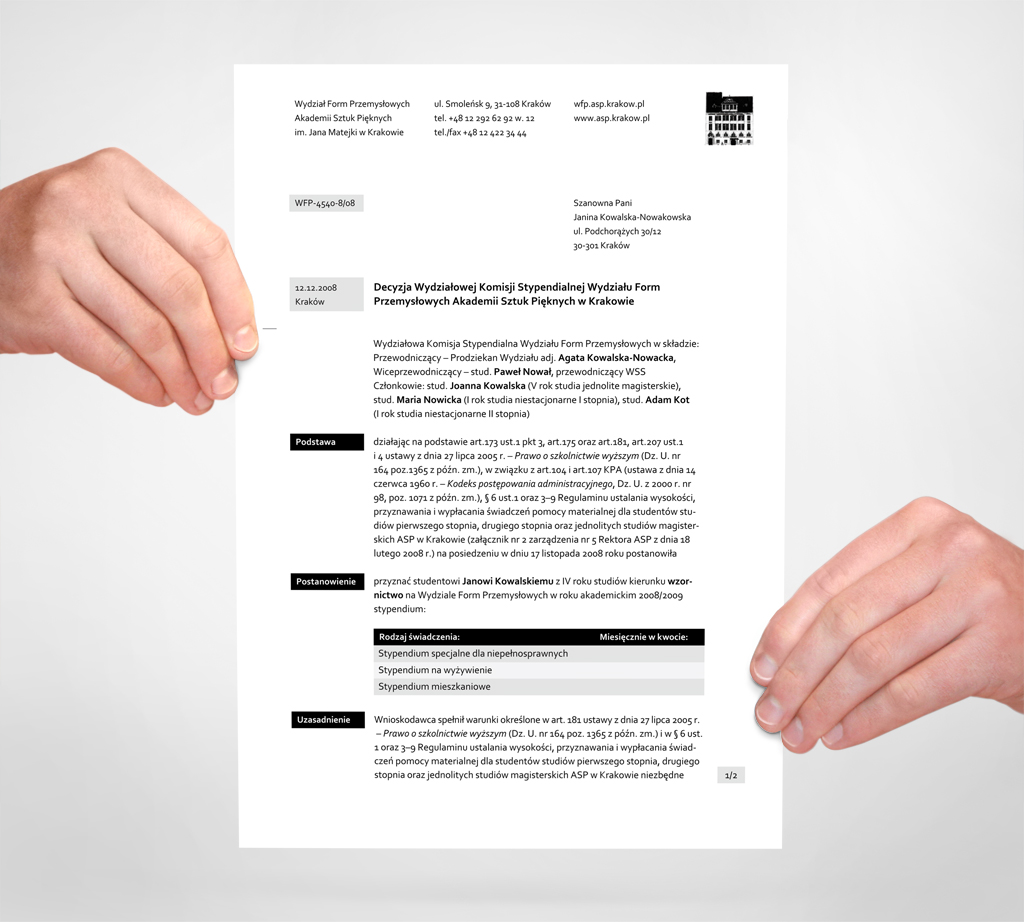 Kamil Kamysz Design Blog Designing A System Of Documents Part I - Art design document