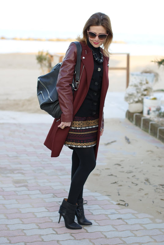 Stella McCartney sunglasses, Zara coat, Givenchy bag