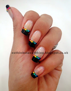 Rainbow French Manicure