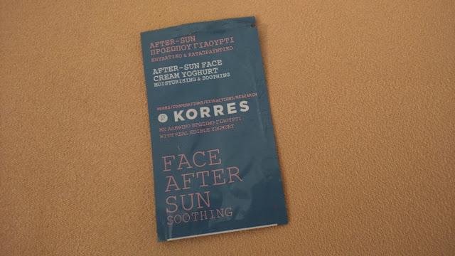 Korres After-Sun Face Cream Yoghurt