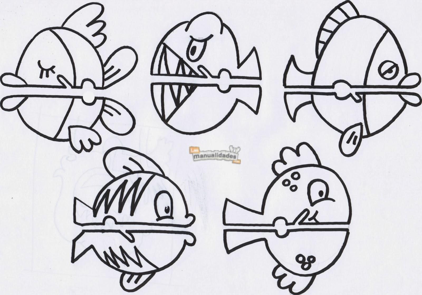 La clase de eva marionetas de animales del mar for Peces para criar