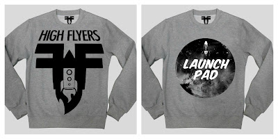 HighFlyers Clothing sweatshirts moon rocket launch