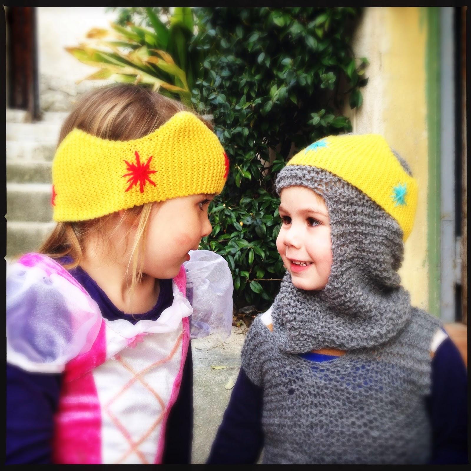 couronne tricotée en mérinos filature du valgaudemar