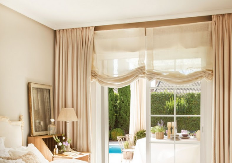 1000 images about cortinas on pinterest curtains ikea for Cortinas dobles para dormitorios