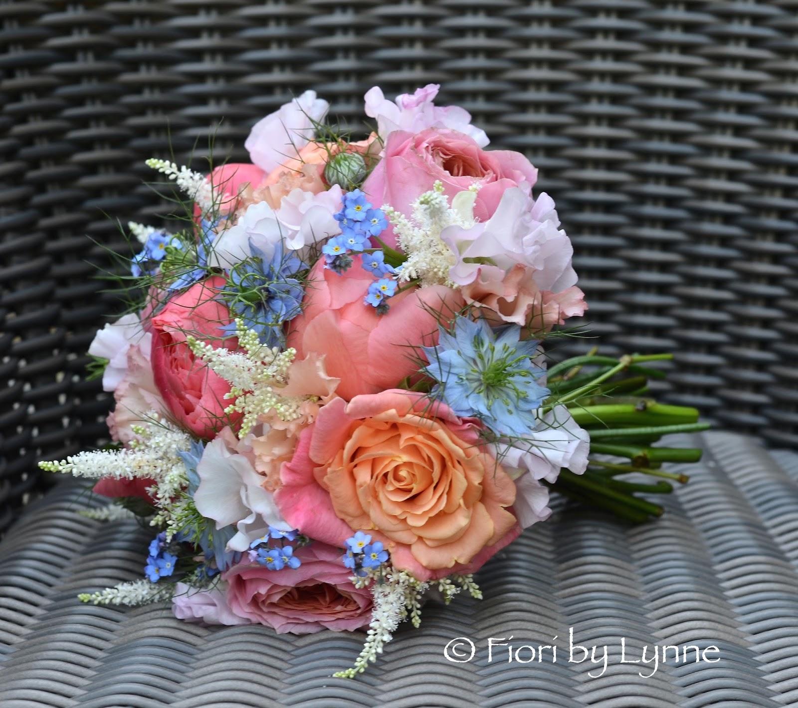 Wedding Flowers Blog Kiahs Coral And Blue Wedding Flowers