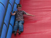 Aidan on the slide