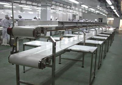 Băng tải thực phẩm trong nhà máy