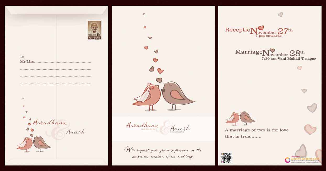 Creative Wedding Cards Creative wedding card