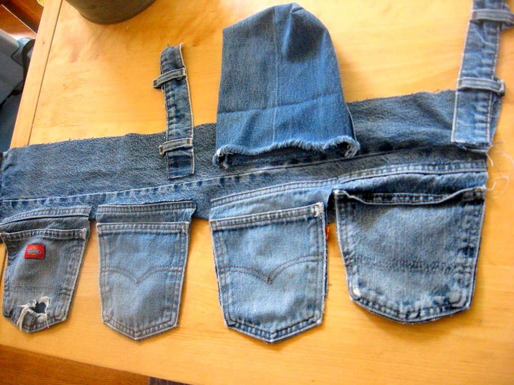 Строительный пояс своими руками из джинса 84
