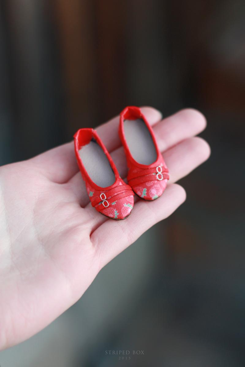 обувь балетки для куклы