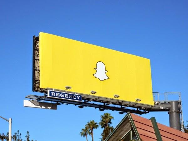Snapchat logo billboard