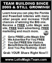 Team Free Lotto marketing newspaper print version ad
