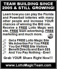 Team Free Lotto marketing newspaper print version ad
